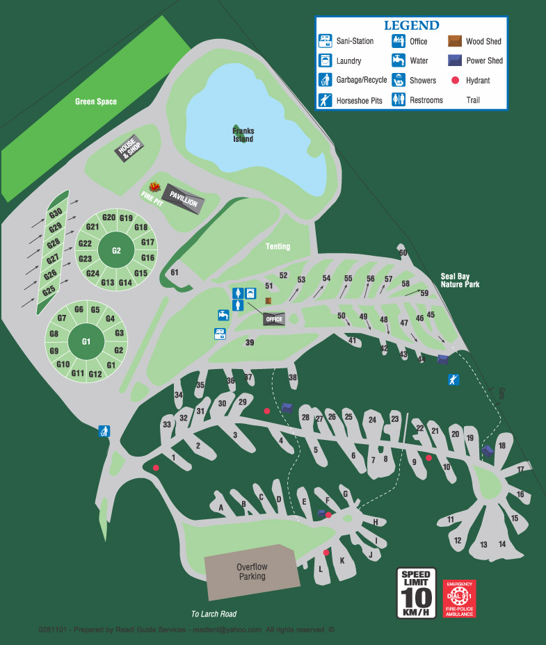20 Acre Site Map Vancouver Island RV Park amp Camping