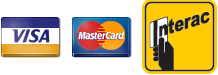 visa mastercard interact accepted